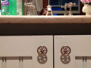 Wheel Knobs on Cabinet