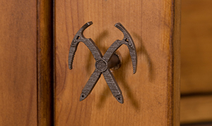 Ice Ax knobs add the jewelry to bedroom dresser door