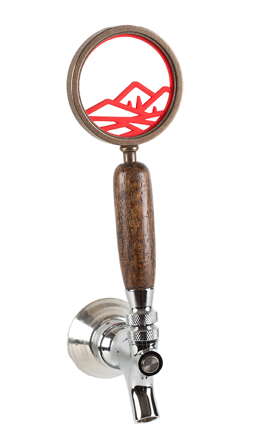 Knockout Knobs Bronze and Red Beer Tap