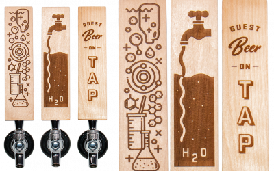 Glass Jug Beer Lab Tap Handles