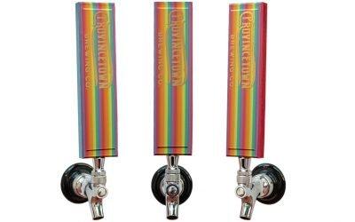 Provincetown Brewering Rainbow Pride Tap Handles